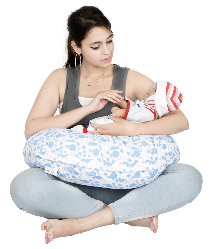 Lulamom Multi-Colour Polyester Fibre Feeding pillow Baby Pillow