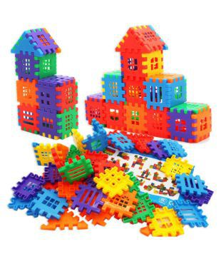 TEMSON Mega Jumbo Happy Home House Building Blocks with Attractive