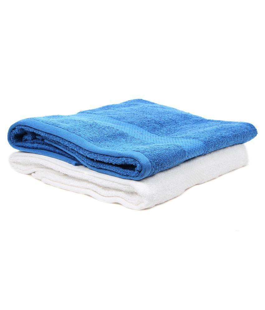 Bonjour Set of 2 Terry Bath Towel Blue