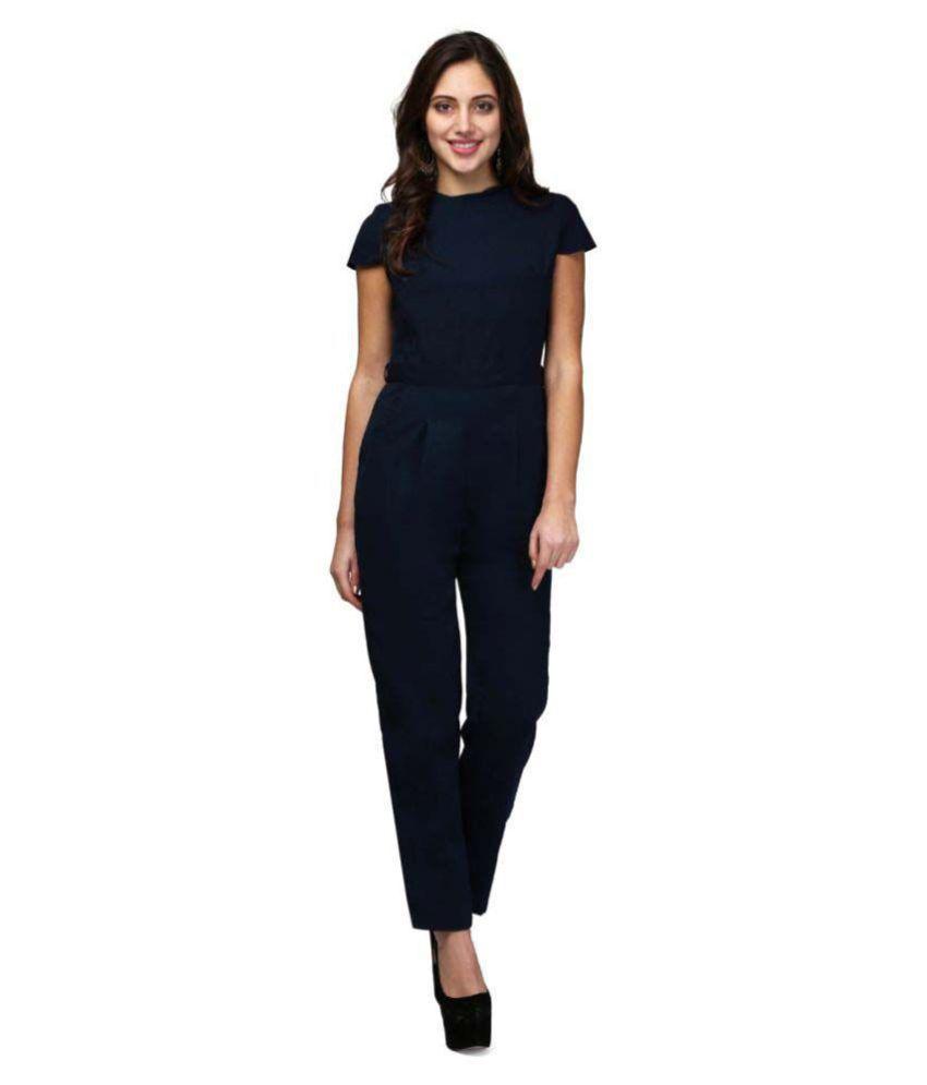 V&M Navy Polyester Jumpsuit