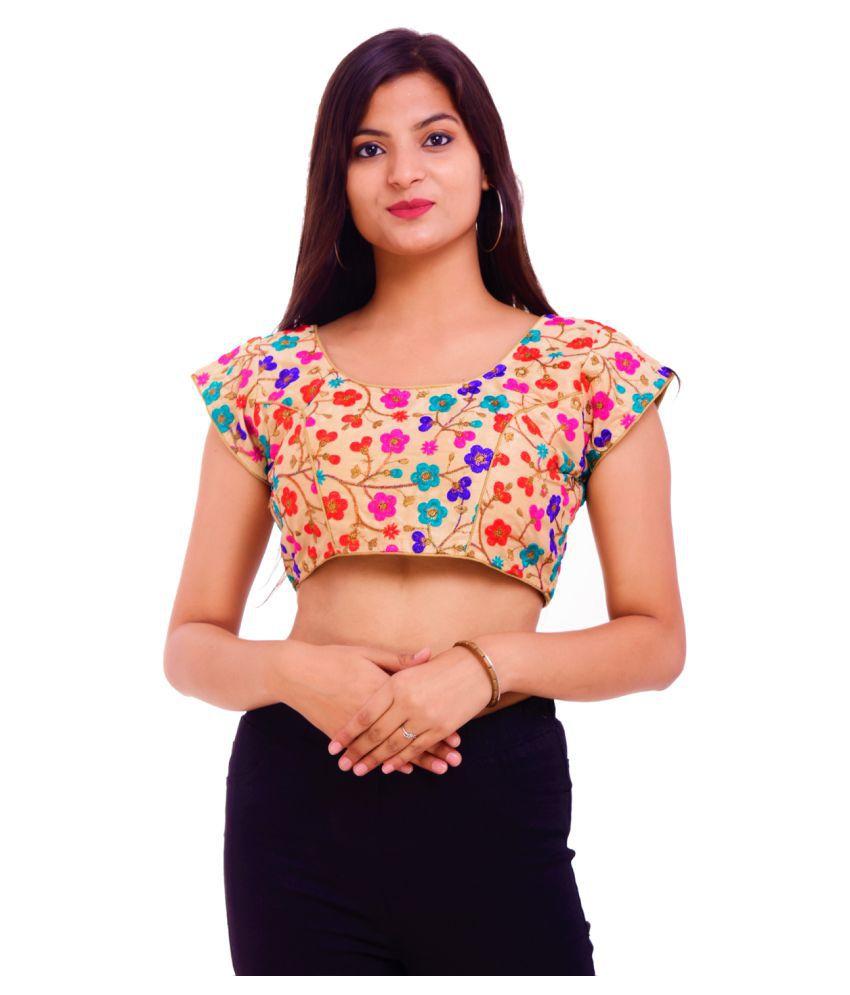 ADABHUT Multicoloured Silk Readymade with Pad Blouse