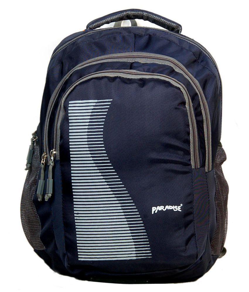 PARADISE Navy Blue School Bag for Girls
