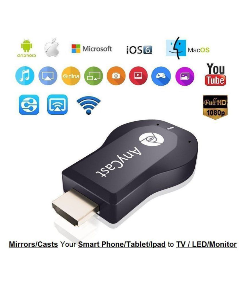 BLUESEED Anycast wifi Dongle Receiver & Transmitter - Black