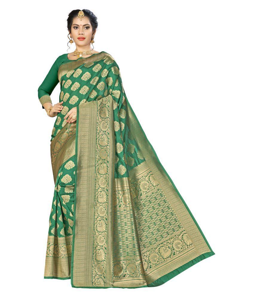 Manvaa Green Banarasi Silk Saree