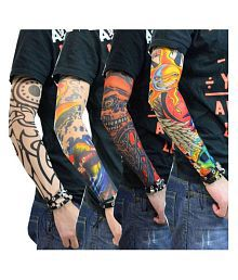 32c693c51cb8f Quick View. NJ STAR Driving .UV Sun Protection Printed Tattoo Arm Sleeves  ...