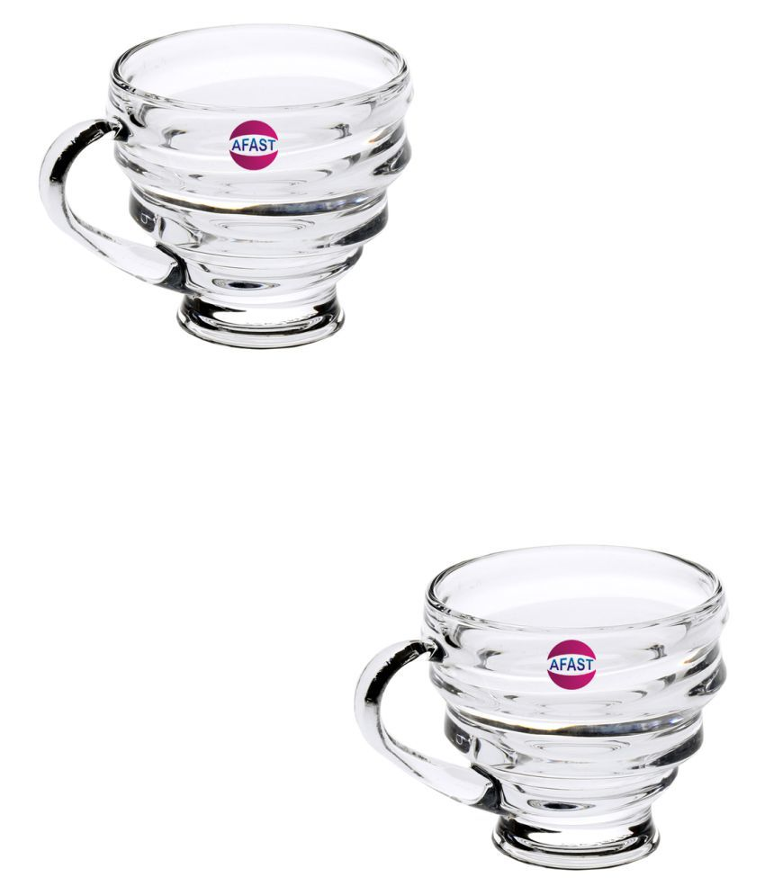 AFAST Glass Coffee Cup 2 Pcs 110 ml