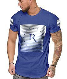 GESPO Blue Half Sleeve T-Shirt