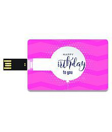 SmartNxt Credit Card Shape Designer 16GB Pen Drive -Festivals & Occasions - Happy Birthday