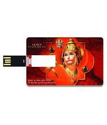 SmartNxt Credit Card Shape Designer 8GB Pen Drive -Spiritual - Shri Hanuman