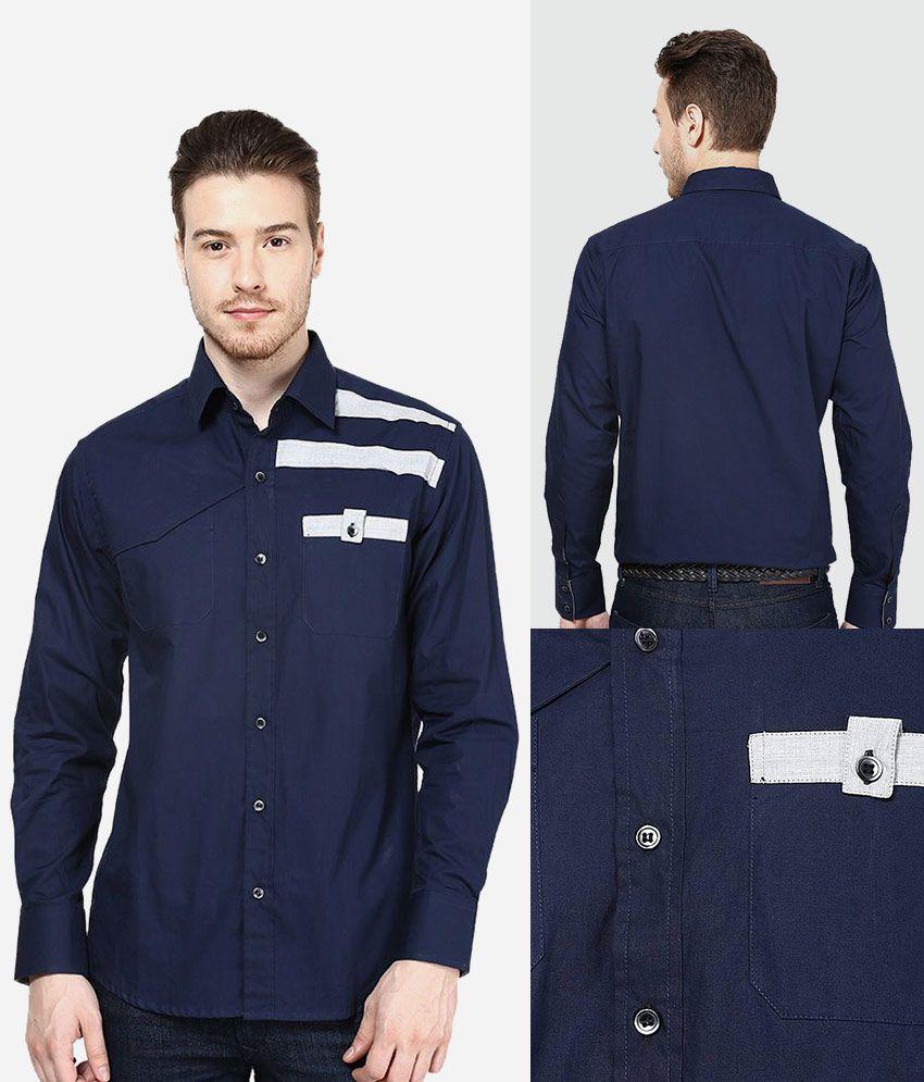 Dazzio Blue Partywear Shirt