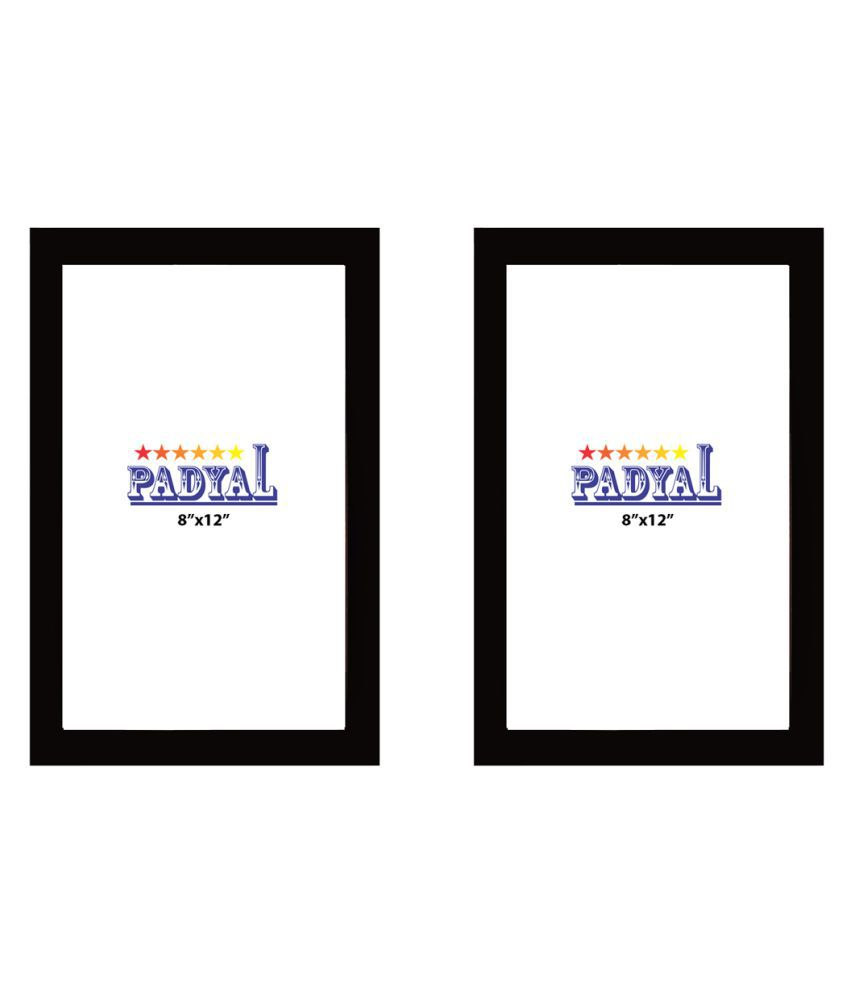 PADYAL Wood Table Top & Wall hanging Black Photo Frame Sets - Pack of 2