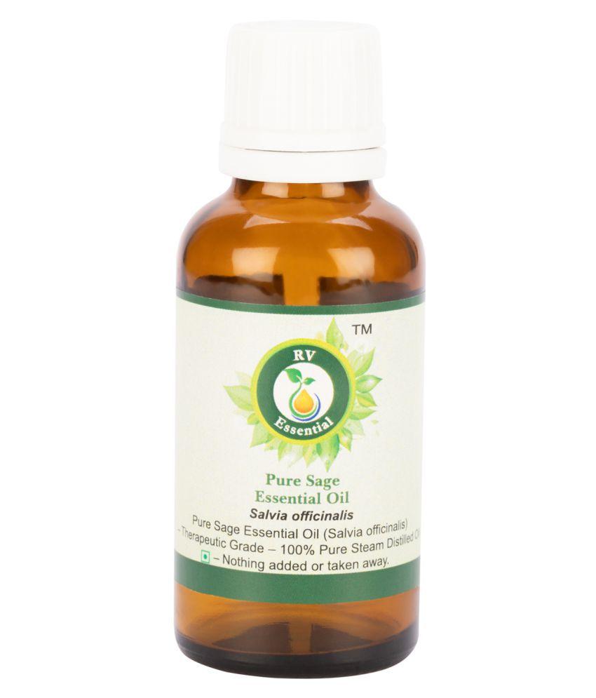 R V Essential Pure Sage Essential Oil Essential Oil 30 mL