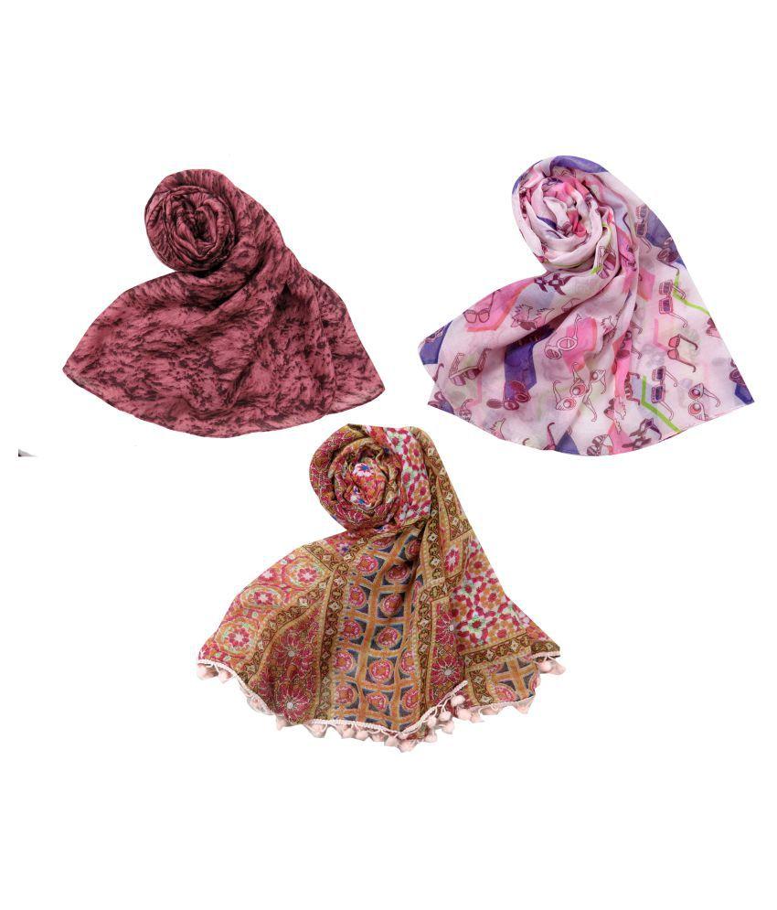URBAN-TRENDZ Multi Polyester Scarves