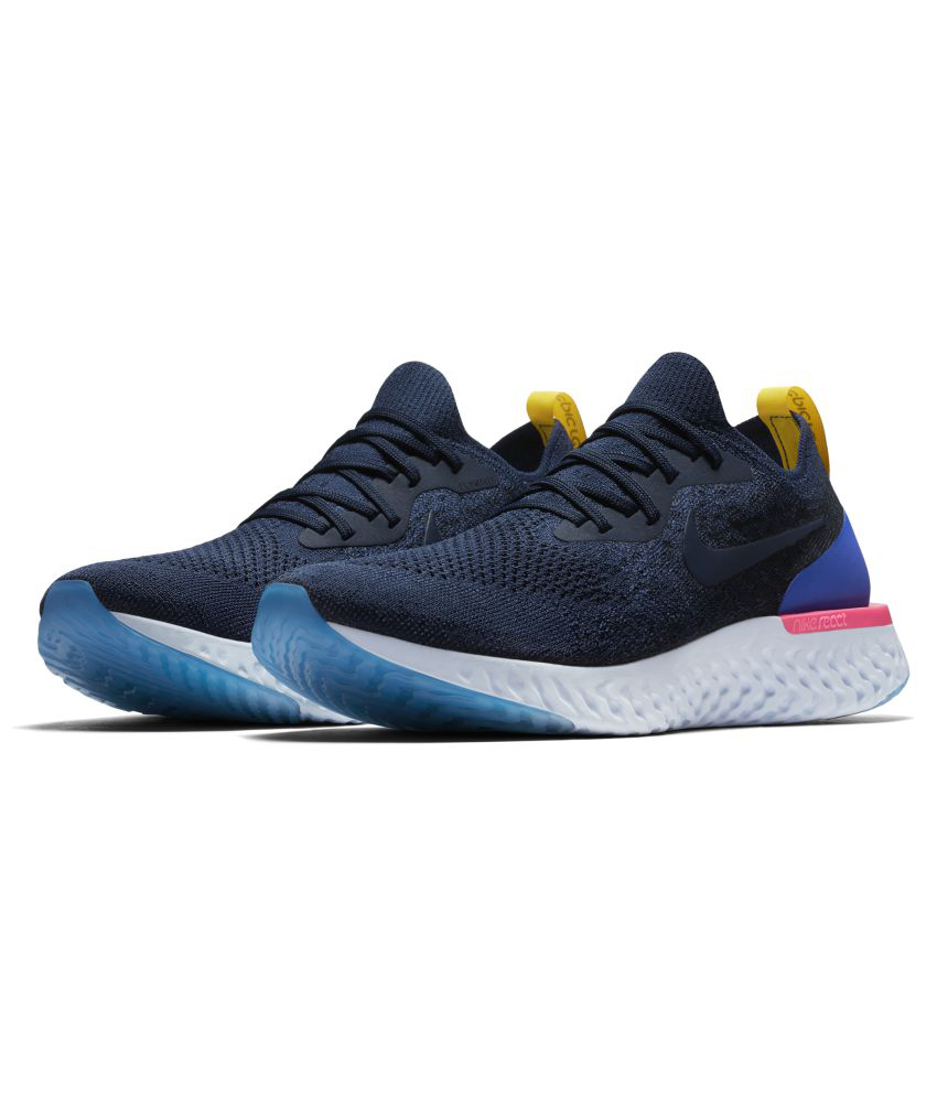 newest f6b0a 9b017 Nike Epic React Flyknit Blue Running Shoes
