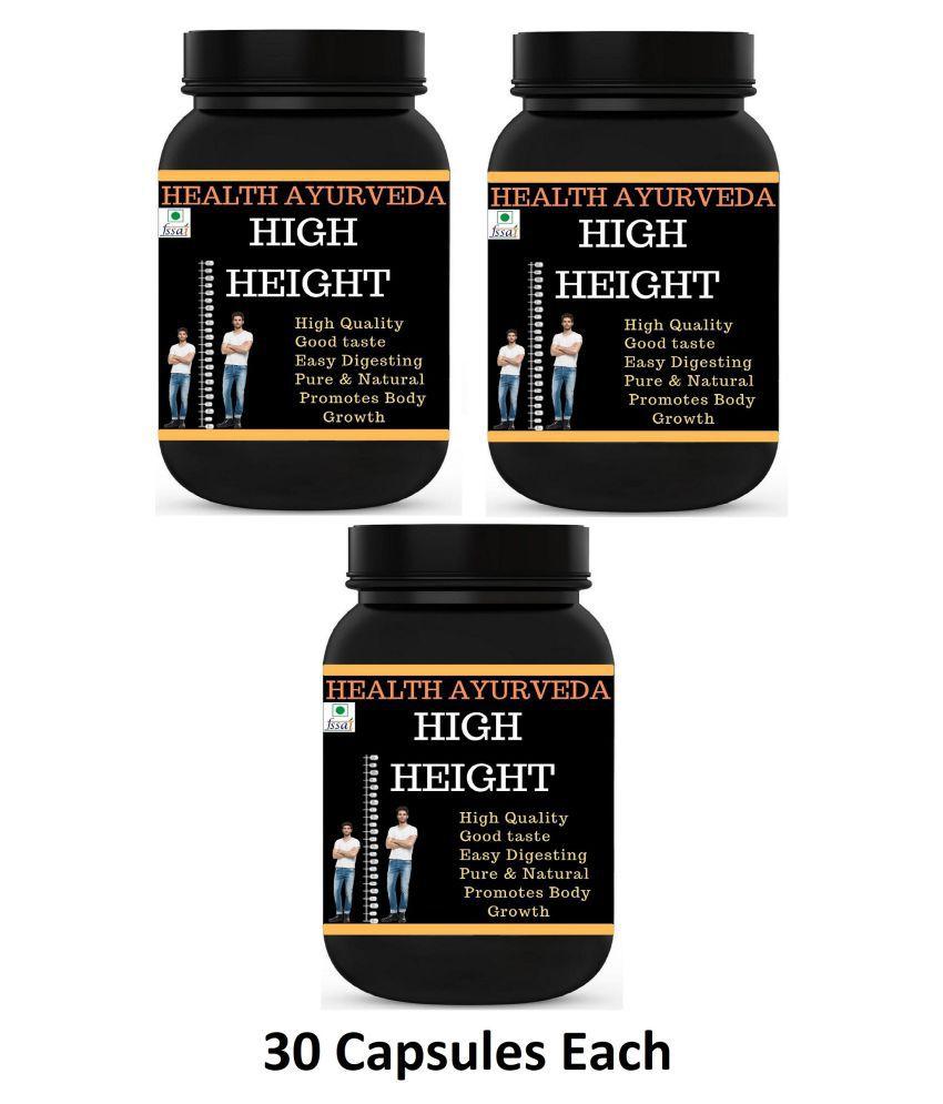Health Ayurveda High Height   Height Badhane Ki Dawa Capsule 90 no.s Pack of 3