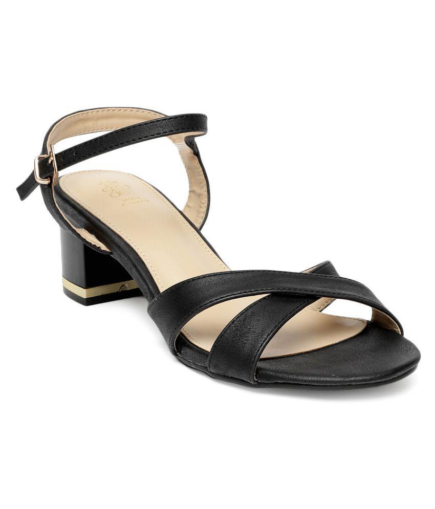 Tresmode Black Stiletto Heels