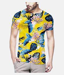 Veirdo 100 Percent Cotton Multi Printed T-Shirt