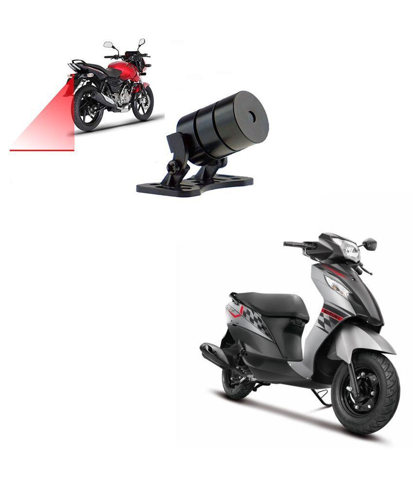 Auto Addict Scooty Styling Led Laser Safety Warning Lights Fog Lamp,Brake Lamp,Running Tail Light-12V For Suzuki Lets