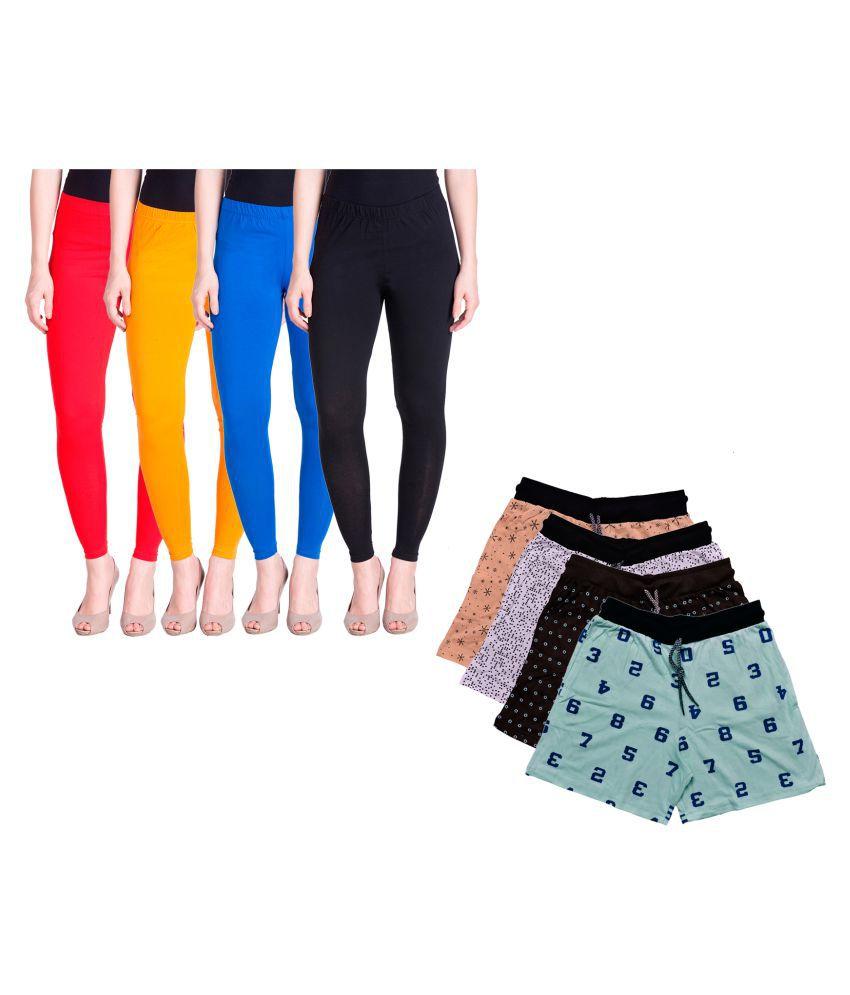 KAYU Cotton Pack of 8 Leggings
