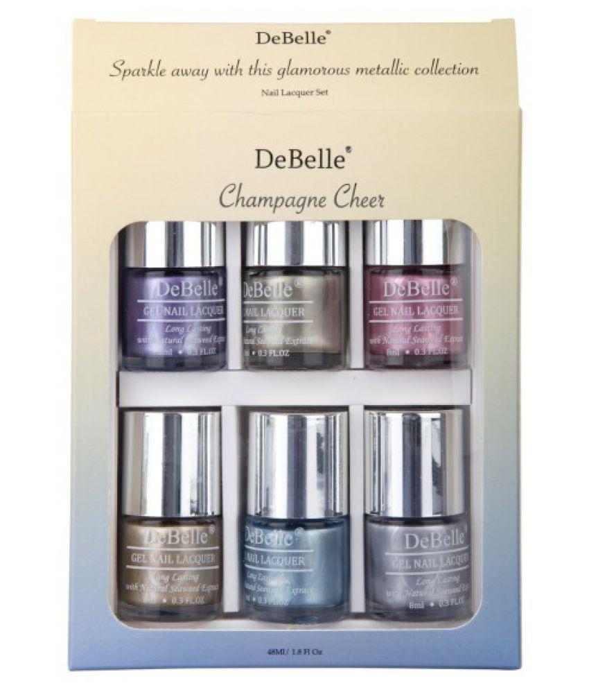 DeBelle ChromeWine,ChromeGold,ChromeGlaze Nail Polish Kit Chrome(Purple,Silver Multi Chrome 48 mL