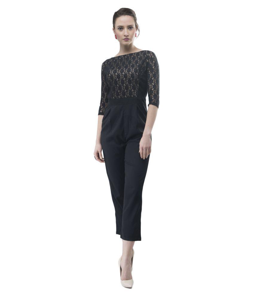 V&M Black Lace Jumpsuit