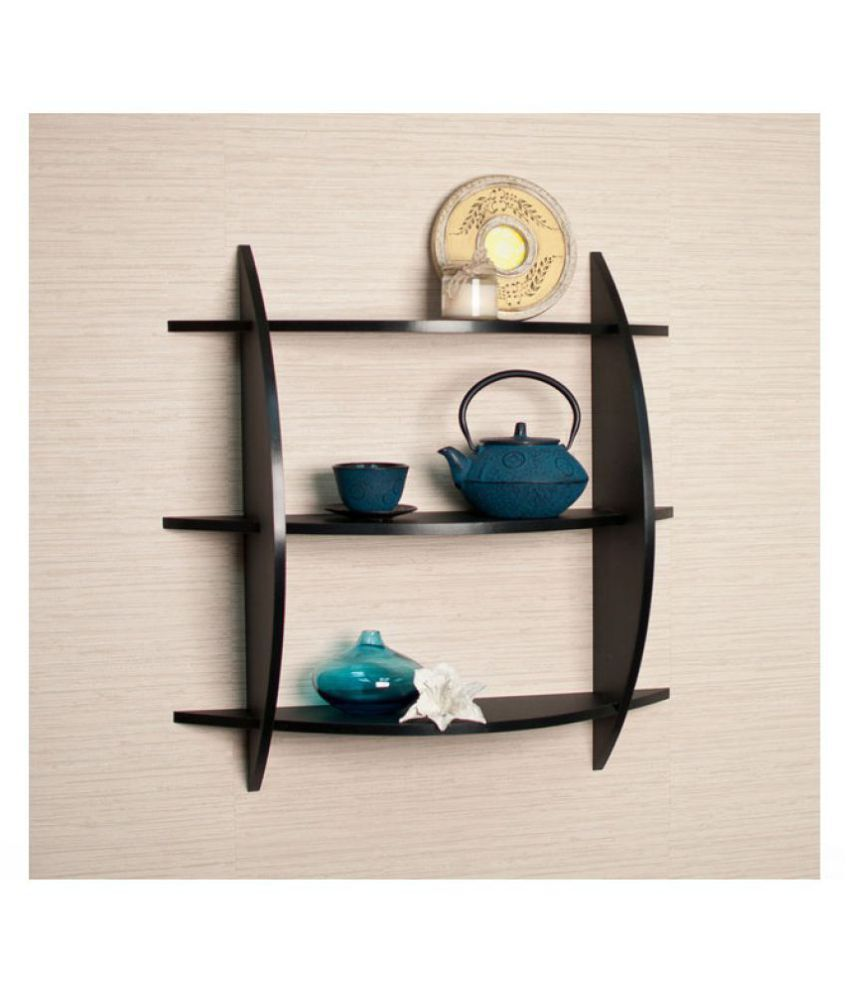 Home Sparkle MDF 3 Tier Rack For Wall Décor -Suitable For Living Room/Bed Room (Designed By Craftsman)