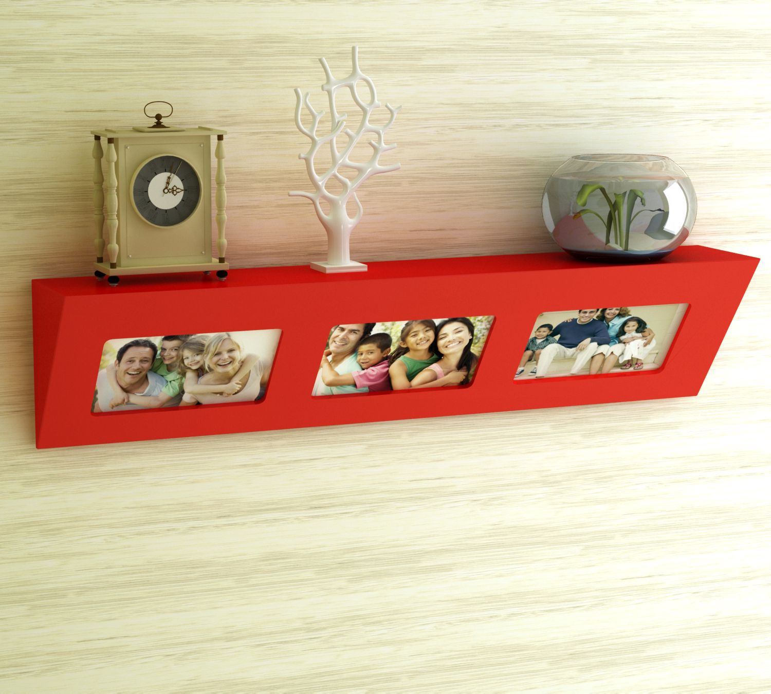 Home Sparkle MDF Photo frame wall shelf For Wall Décor -Suitable For Living Room/Bed Room (Designed By Craftsman)