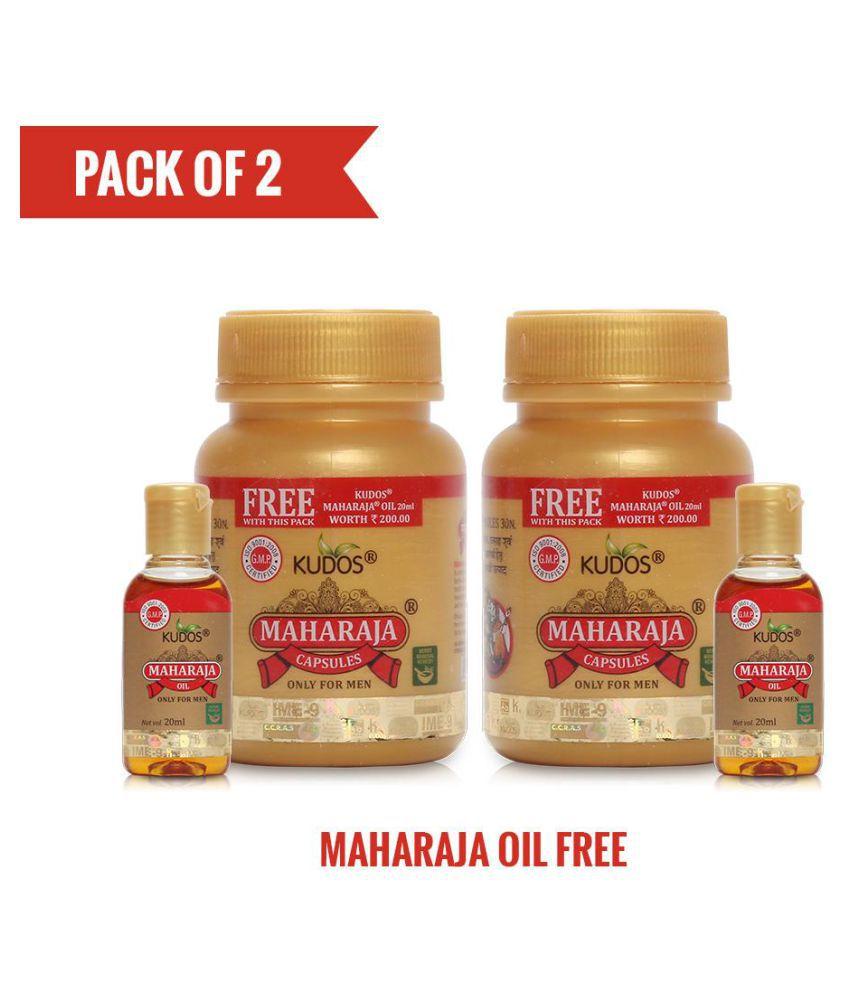 Kudos Ayurveda Maharaja Capsules+Maharaja Oil Free Capsule 30 no.s Pack Of 2