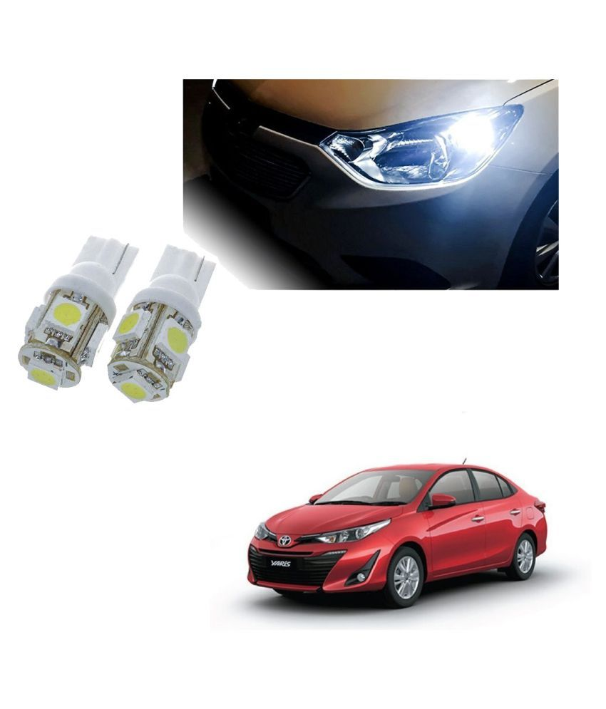 Auto Addict Car T10 5 SMD Headlight LED Bulb for Headlights,Parking Light,Number Plate Light,Indicator Light For Toyota Yaris