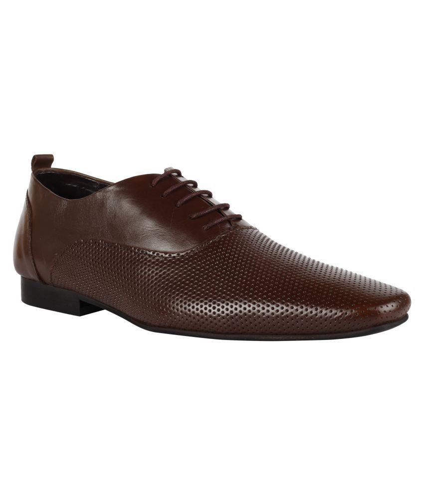 Franco Leone Derby Tan Formal Shoes