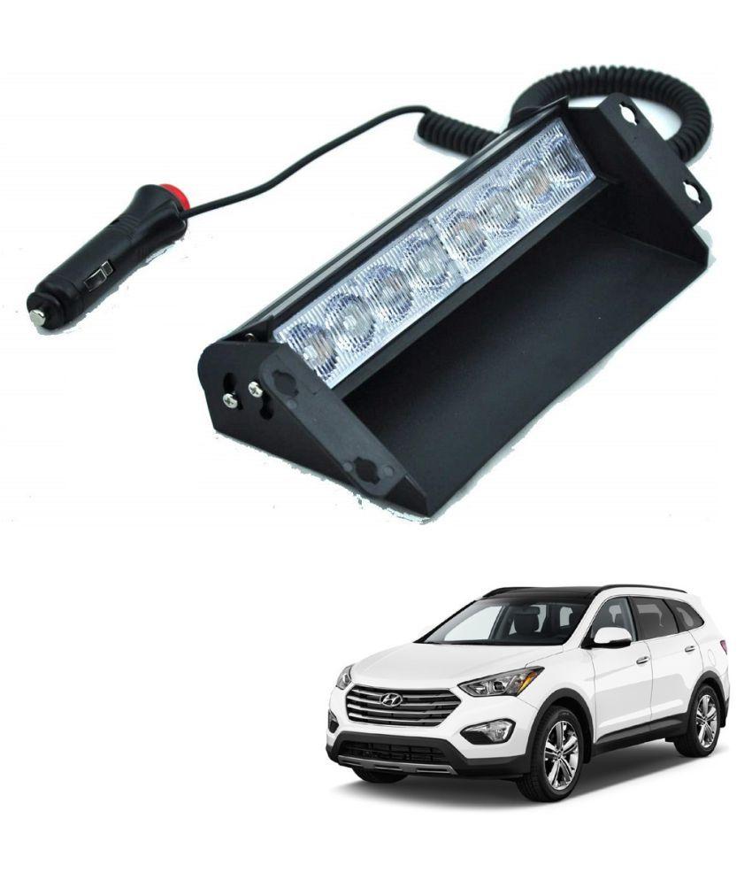 Auto Addict Car 8 LED Police Lights Flasher Light Red Blue Interior Lighting For Hyundai SantaFe