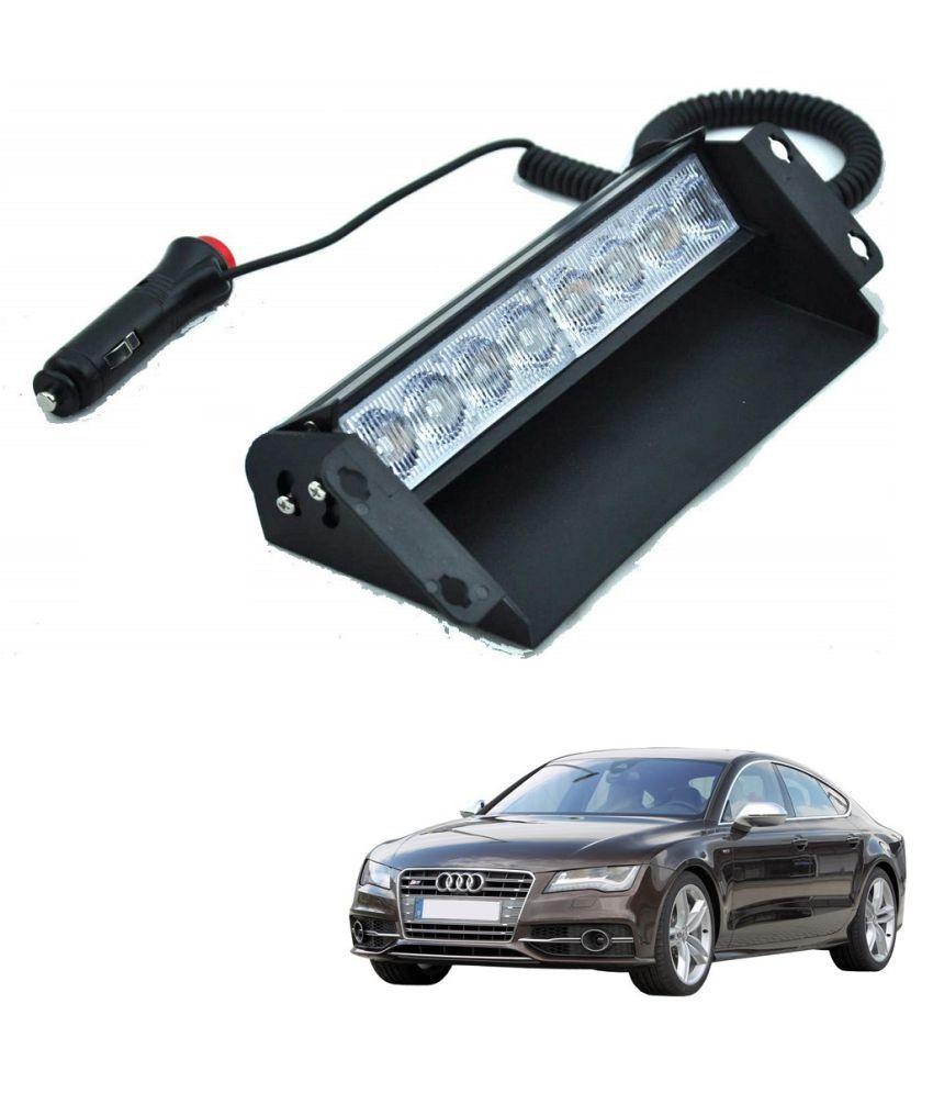 Auto Addict Car 8 LED Police Lights Flasher Light Red Blue Interior Lighting For Audi NA