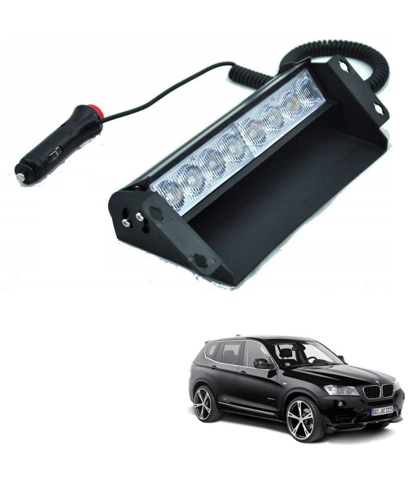 Auto Addict Car 8 LED Police Lights Flasher Light Red Blue Interior Lighting For BMW X3