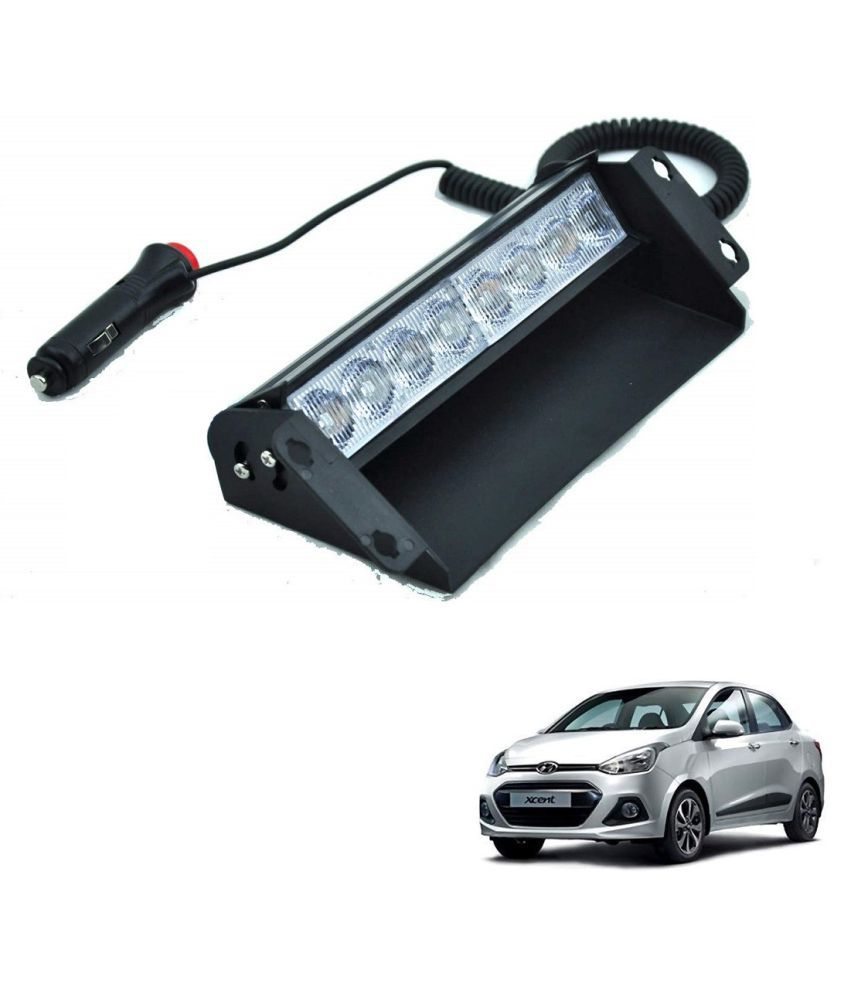 Auto Addict Car 8 LED Police Lights Flasher Light Red Blue Interior Lighting For Hyundai Xcent