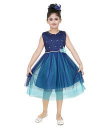 901b57bdb8c0 Quick View. ZOOBA Girls Net made Multi-Colored Party Wear Designer Frock