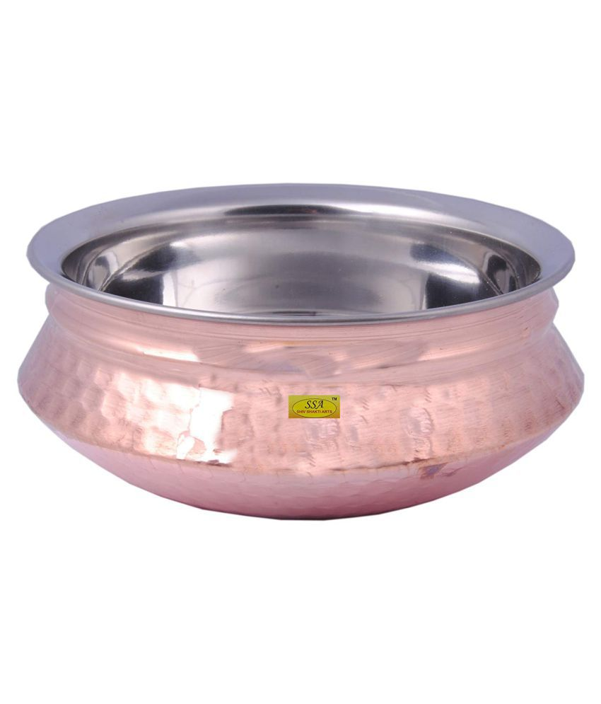 Shiv Shakti Arts Steel Copper Handi4N 1 Piece Cookware Set