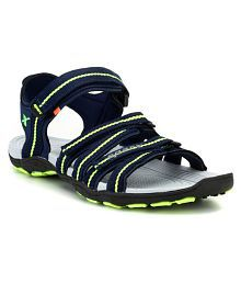 Sparx Navy Synthetic Leather Sandals