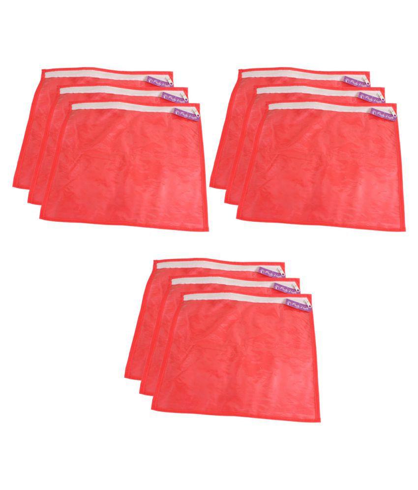 PrettyKrafts Red Saree Covers - 9 Pcs