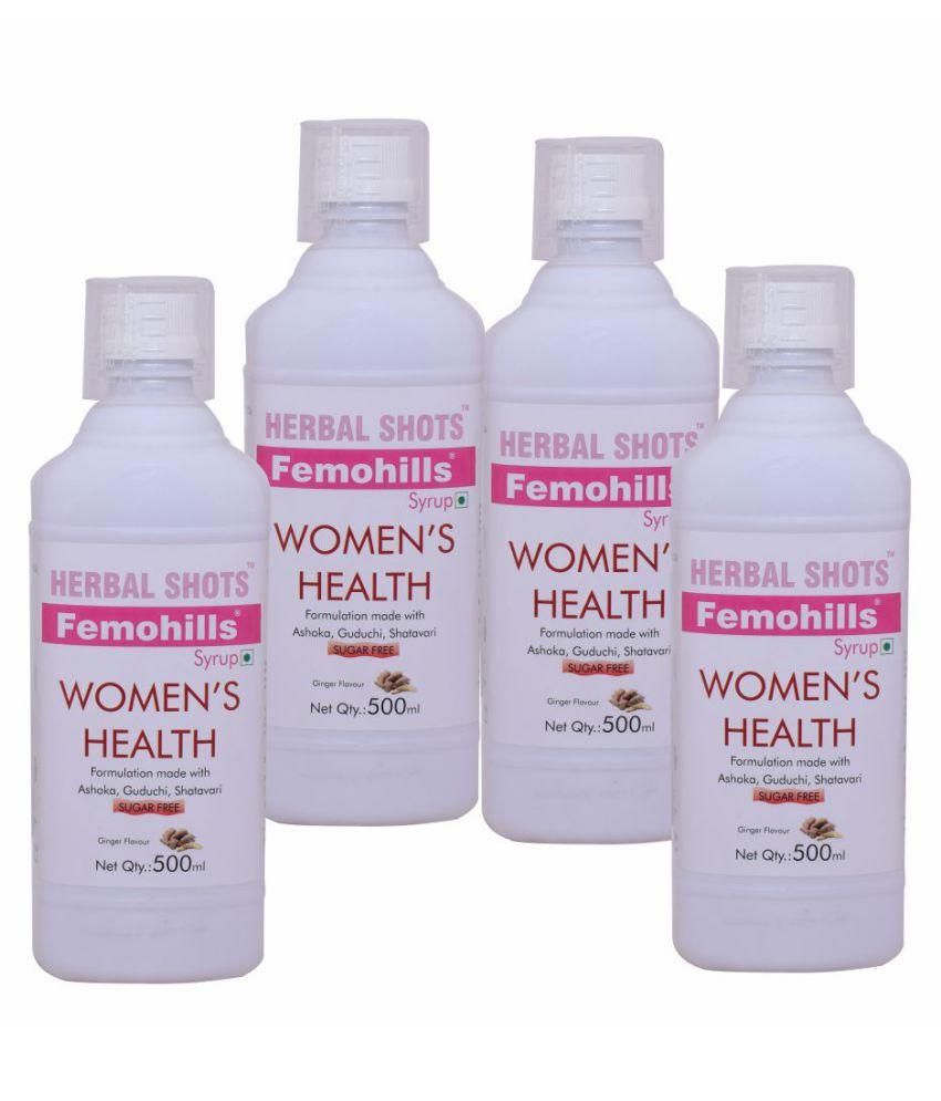 Herbal Hills Femohills Herbal Shots 500ml (Pack of 4) Syrup 500 ml