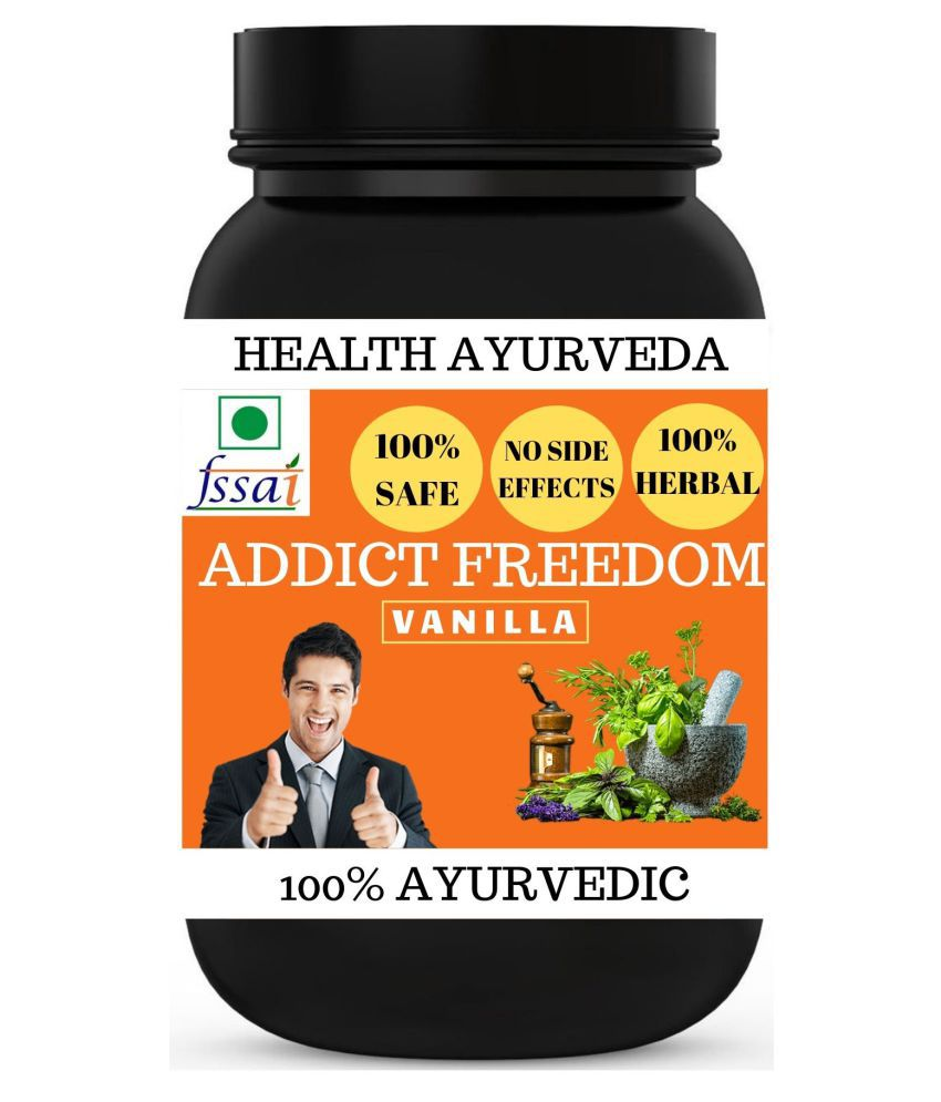Health Ayurveda Addict Freedom Vanilla Flavour Powder 100 gm Pack Of 1
