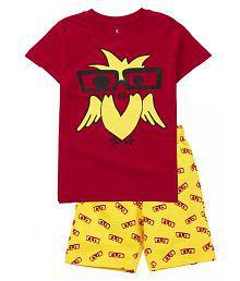 Boy's Owl Print Top & AOP Shorts Set