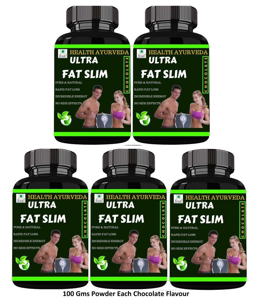 Health Ayurveda Ultra Fat Slim Chocolate Flavour Powder 500 gm Pack Of 5