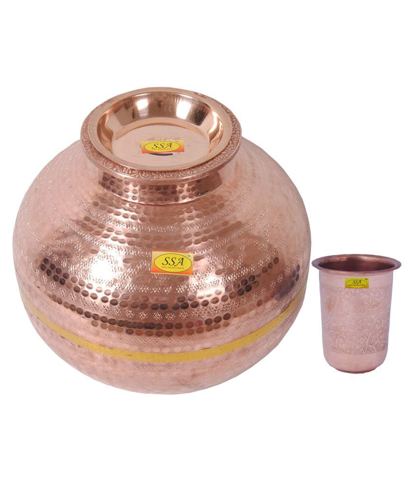 Shiv Shakti Arts Matka With 1 Glass 2 Pcs Lemon set