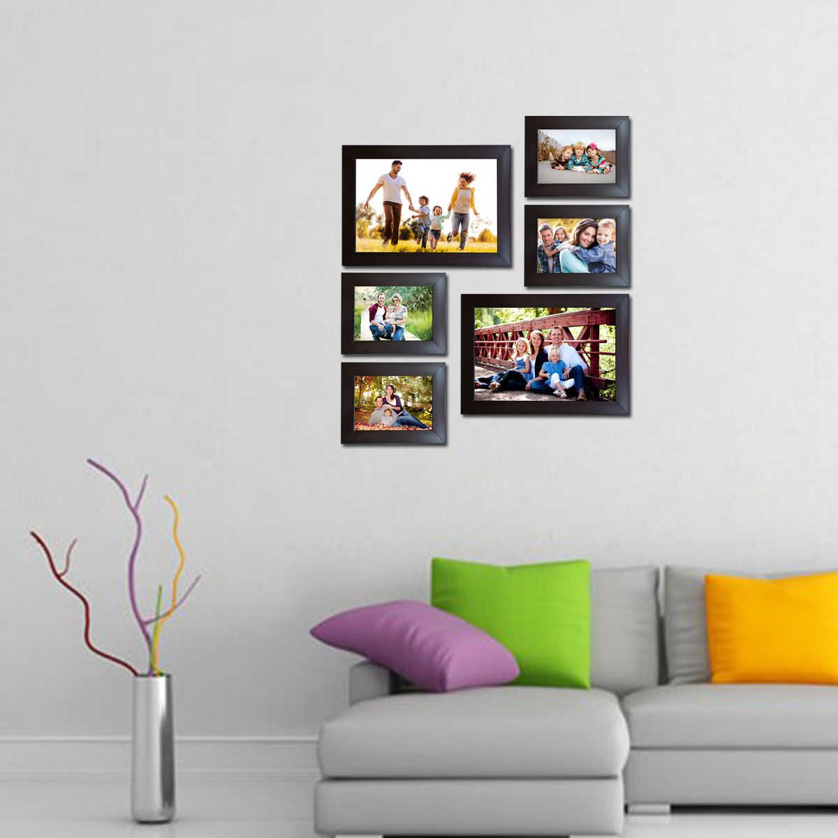 Decora Acrylic Brown Photo Frame Sets - Pack of 6