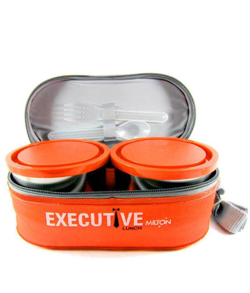 Milton Orange Stainless Steel Lunch Box