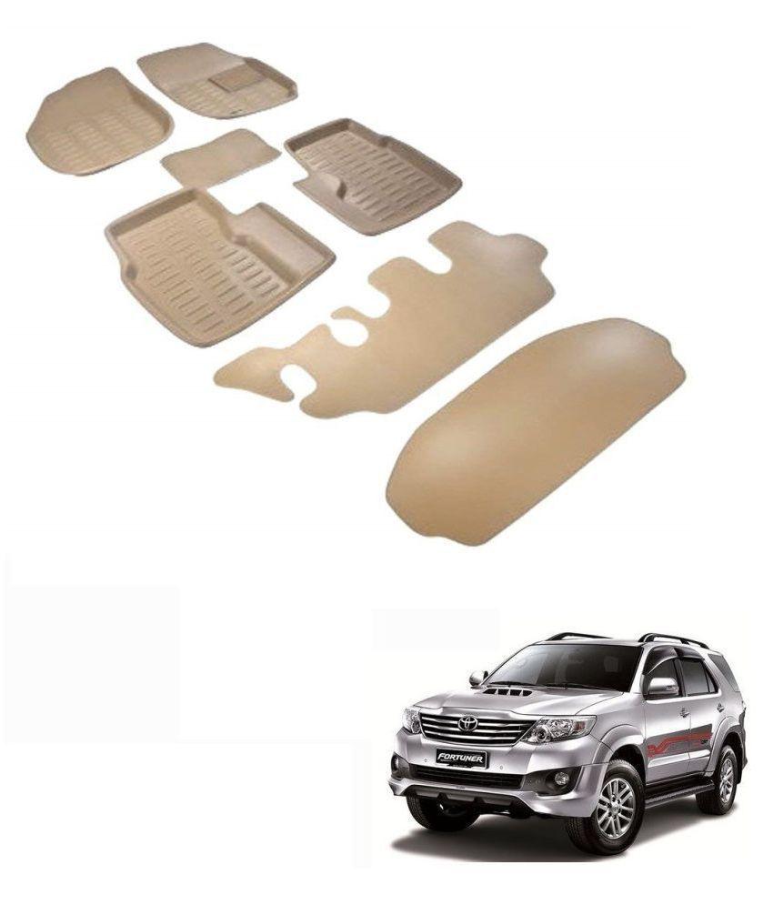 Auto Addict Car 3D Mats Foot mat Beige Color for Toyota fortuner