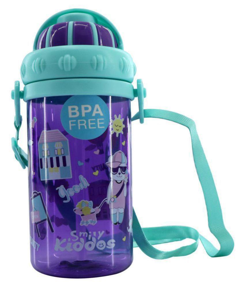 Smily Sipper Water Bottle - Capacity 430 ml (Purple) | Kids Water Bottle | School Water Bottle | Water Bottle For Kids | Purple Color Water Bottle | Kids Stationery Products | School accessory's | Water Bottle for  Boys & Girls | Stylish Water Bottles