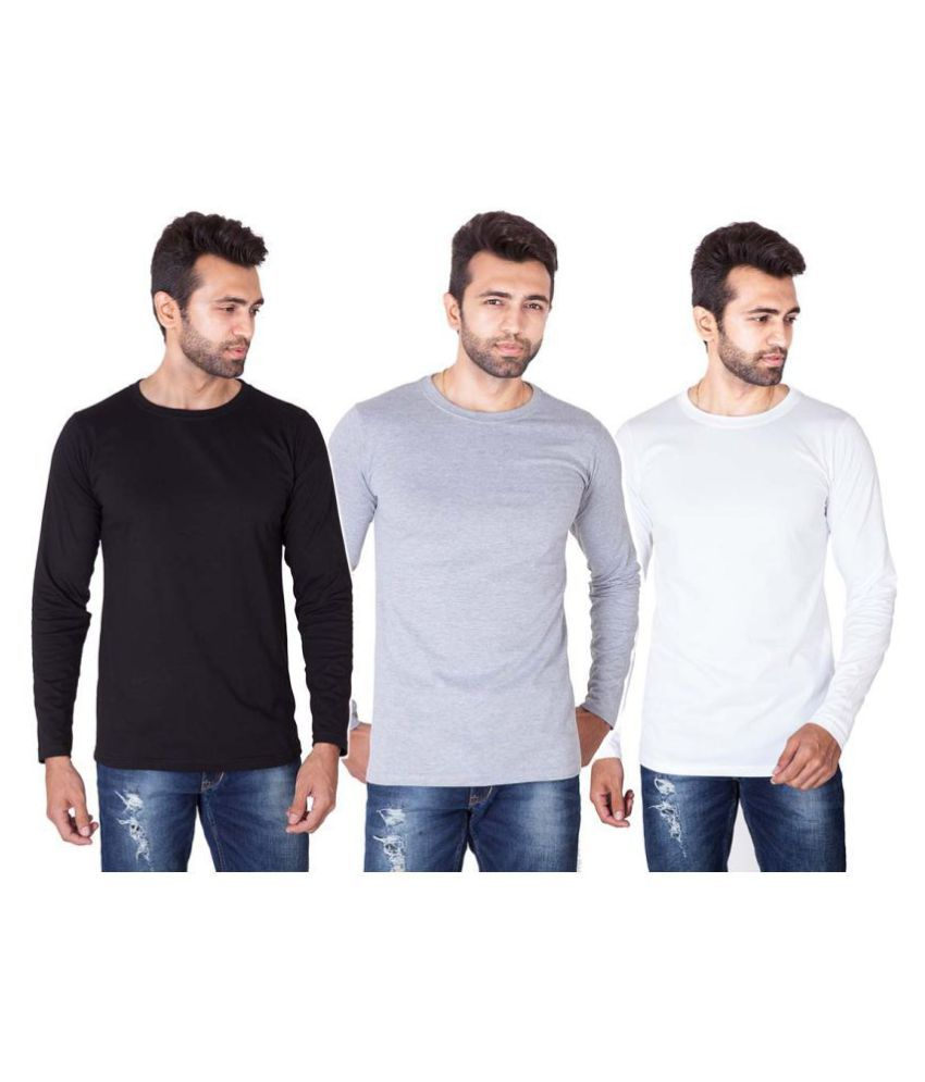 Veirdo 100 Percent Cotton Multi Solids T-Shirt