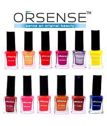 orsense ORSENSE Nail Polish MUL MULTICOLOR Glossy Pack of 10 5 mL