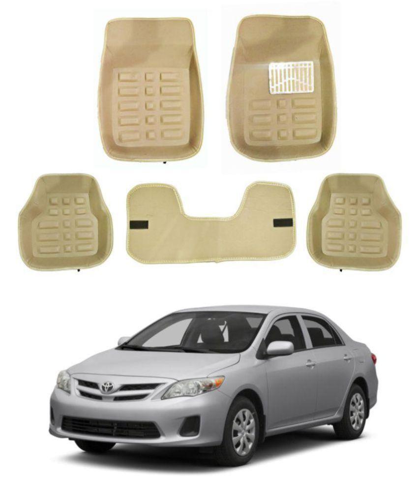 Trigcars Car Carpet Cream Car Floor/Foot Mats for Toyota Corolla New